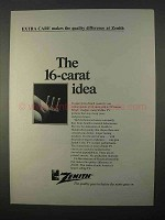 1966 Zenith TV Ad - The 16-Carat Idea