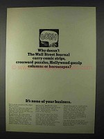 1966 Wall Street Journal Ad, Doesn't Carry Comic Strips