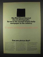 1966 Wall Street Journal Ad - Has No Photographs