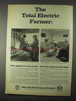 1966 Edison Electric Institute Ad - Electric Farmer