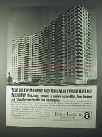 1966 Texas Eastern Transmission Ad - Towers Luxury