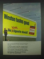1966 Winston Cigarettes Ad - Tastes Good Like Should