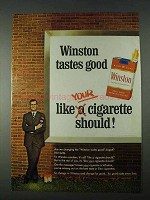 1966 Winston Cigarettes Ad - Good Like Should