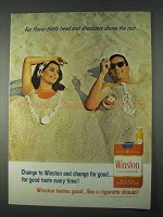 1966 Winston Cigarettes Ad - Head and Shoulders Above
