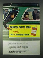 1966 Winston Cigarettes Ad - Tastes Good