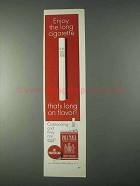1966 Pall Mall Cigarettes Ad - Enjoy the Long Cigarette