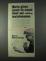 1966 Hertz Rent-a-Car Ad - Coast-to-Coast Fleet Car