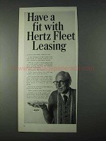 1966 Hertz Rent-a-Car Ad - Fit With Fleet Leasing