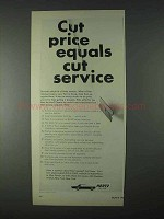 1966 Hertz Rent-a-Car Ad - Cut Price Equals Cut Service