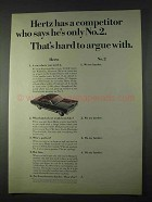 1966 Hertz Rent-a-Car Ad - Competitor Only No. 2