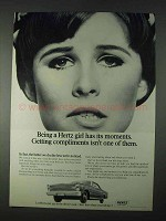 1966 Hertz Rent-a-Car Ad - Being a Hertz Girl