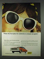 1966 Hertz Rent-a-Car Ad - Celebrities Remain Incognito