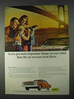 1966 Hertz Rent-a-Car Ad - More Important Things