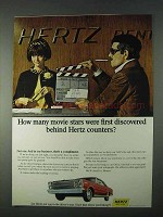 1966 Hertz Rent-a-Car Ad - How Many Movie Stars?