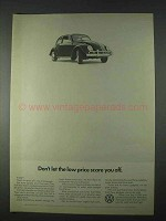 1966 Volkswagen VW Bug Beetle Ad - The Low Price