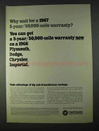 1966 Chrysler Corporation Ad - Why Wait For Warranty