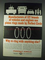 1966 Dana Perfect Circle Piston Rings Ad - 127 Brands