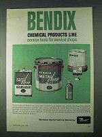 1966 Bendix Chemical products line Ad - Service Shops