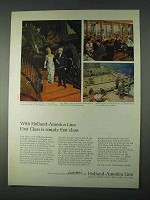 1966 Holland-America Line Ad - Simply First Class