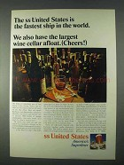 1966 United States Lines Ad - Fastest Ship in the World