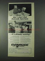 1966 Evinrude Sportsman Outboard Motor Ad - Don't Start