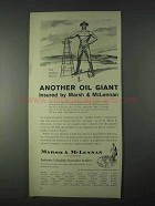 1966 Marsh & McLennan Insurance Ad - Another Oil Giant