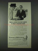 1966 Marsh & McLennan Insurance Ad - Aviation