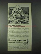 1966 Marsh & McLennan Insurance Ad - Industry Conquers
