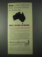 1966 Marsh & McLennan Insurance Ad - Offices Australia