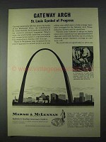 1966 Marsh & McLennan Insurance Ad - Gateway Arch