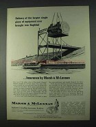 1966 Marsh & McLennan Insurance Ad - Baghdad