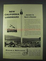 1966 Marsh & McLennan Insurance Ad - Marineland Pacific