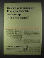 1966 Marsh & McLennan Insurance Ad - Employee Benefits