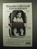 1990 Allstate Insurance Ad - Makes a Child Seat Safe