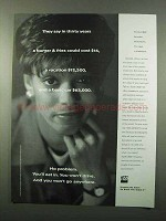 1995 TIAA-CREF Retirement Ad - In Thirty Years