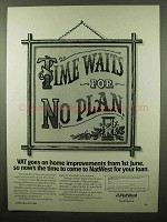 1984 NatWest Bank Ad - Time Waits For No Plan