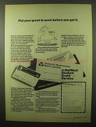 1980 NatWest Bank Ad - Put Your Grant To Work