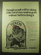 1979 NatWest Bank Ad - Taking Bite Out of Student Grant