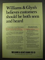 1979 Williams & Glyn's Bank Ad - Seen and Heard