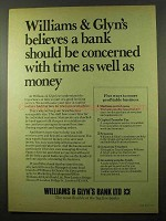 1979 Williams & Glyn's Bank Ad - Concerned With Time