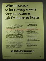 1979 Williams & Glyn's Bank Ad - Borrowing Money