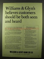 1978 Williams & Glyn's Bank Ad - Seen And Heard