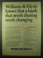 1977 Williams & Glyn's Bank Ad - Chasing Changing