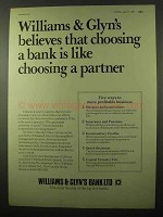 1977 Williams & Glyn's Bank Ad - Choosing a Partner