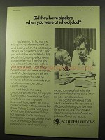1977 Scottish Widows Assurance Ad - Algebra