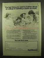1975 NatWest Bank Ad - Bother About At College