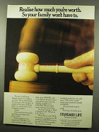 1974 Standard Life Ad - Realise How Much You're Worth
