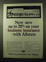 1966 Allstate Insurance Ad - Save On Business