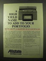 1966 Allstate Savings & Loan Ad - A High Yield Name