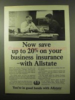 1966 Allstate Insurance Ad - Save On Your Business